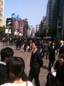 Die Nanjing Road, Fussgaengerzone